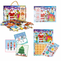 Little Likes Kids Countdown to Christmas Puzzle and Advent Calendar (Brown Black Santa)