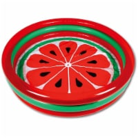 Hoovy 59 Inch 53 Gallon 3 Ring Watermelon Inflatable Kiddie Swimming Pool Set - 1 Piece