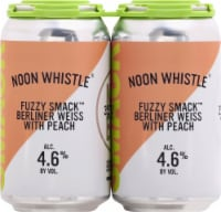 Noon Whistle Fuzzy Smack Berliner Weiss Beer with Peach - 6 cans / 12 fl oz
