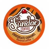 Sundae Ice Cream Flavored Coffee Pods for  2.0 Keurig, Chocolate Caramel, 48 Count