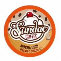Sundae Ice Cream Flavored Coffee Pods, 2.0 Keurig K-Cup Compatible, Mocha Chip, 48 Count - 48 Kcups