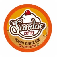 Sundae Ice Cream Flavored Coffee Pods, for 2.0 Keurig, Peanut Butter Cup, 48 Count