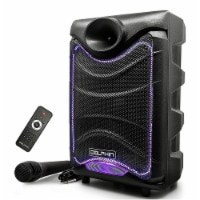 Dolphin SP-850RBT Portable Bluetooth Speaker with Lights and Handheld Microphone - 1 Piece