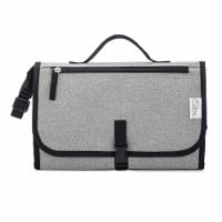 Baby Portable Changing Pad, Diaper Bag, Travel Mat Station, Large, Gray - Large
