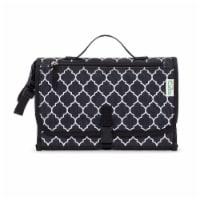 Baby Portable Changing Pad, Diaper Bag, Travel Mat Station, Large, Black Pattern