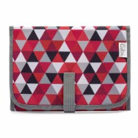 Baby Portable Changing Pad, Diaper Bag, Travel Mat Station, Compact, Red Pattern