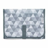 Baby Portable Changing Pad, Diaper Bag, Travel Mat Station, Compact, Gray Pattern - Compact