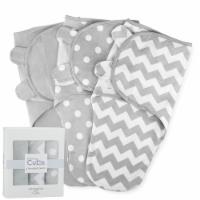 Swaddle Blanket Baby Girl Boy Easy Adjustable 3 Pack Infant Sleep Sack (Large, Gray)