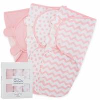 Swaddle Blanket Baby Girl Boy Easy Adjustable 3 Pack Infant Sleep Sack (Large, Pink) - Large