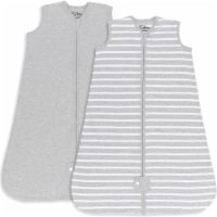 Sleep Bag for Baby, 2 Pack, Breathable Wearable Blanket Swaddle for Newborns (Gray, Small)