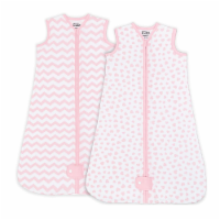 Sleep Bag for Baby, 2 Pack, Breathable Wearable Blanket Swaddle for Newborns (Pink, Medium)