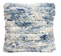 Chicos Home Fluffy Handloom Woven Decorative Throw Pillow - Blue/White
