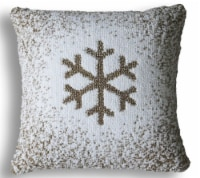 Chicos Home Christmas Snowflake Pillow Cover - White