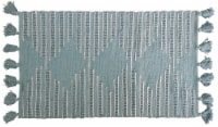 Chicos Home Modern Area Accent Rug with Fringes