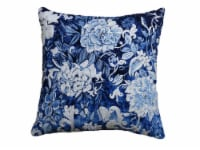 Chicos Home Hand Illustrated Throw Pillow Cover - Blue/White