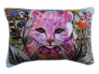 Chicos Home Alice Cat Decorative Pillow Cover