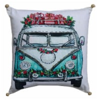 Chicos Home Holiday Van Christmas Pillow Cover