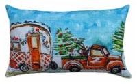 Chicos Home Carvan Christmas Pillow Cover