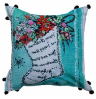 Chicos Home Stocking Christmas Pillow Cover