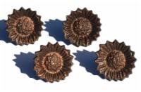 Vibhsa Sun Flower Napkin Ring 4 Pack - Copper