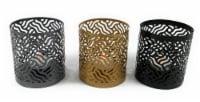 Vibhsa Votive Candle Holder Set 3 Pack - Gray/Gold/Black