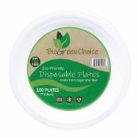 "7"" Compostable Fiber/Bagasse Plate- 240 count"
