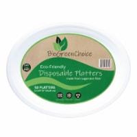 "12 5/8"" x 10"" Eco-Friendly Disposable Platter (50 Count)"