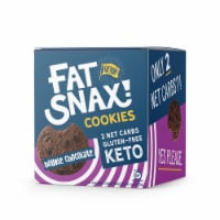 Fat Snax Double Chocolate Keto & Gluten Free Snack Cookies