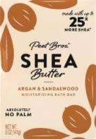 Peet Bros. Argan And Sandalwood Shea Butter Bar Soap