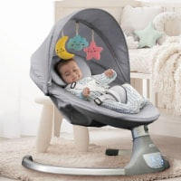 The Nova Baby Swing - Bluetooth, Preset Lullabies, Remote Control, Gray - by Jool Baby - 1 Pack