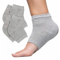 ZenToes Moisturizing Heel Socks to Treat Dry, Cracked Heels - 2 Pairs (Men's 12+ Cotton Gray)