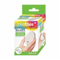 ZenToes Natural Lava Pumice Stone Pedicure Callus Remover Bar, Exfoliate Rough Skin - 2 Count