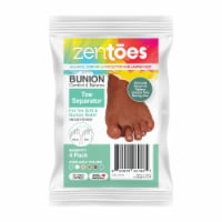 ZenToes Gel Toe Separators - Overlapping Toes, Bunion Corrector and Spacer - 4 Pack (Cocoa) - 4