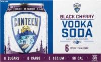 CANTEEN Spirits Black Cherry Vodka Soda - 6 cans / 12 fl oz