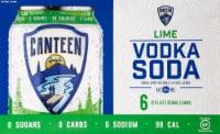 CANTEEN Spirits Lime Vodka Soda - 6 cans / 12 fl oz