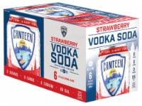 CANTEEN Spirits Strawberry Vodka Soda - 6 cans / 12 fl oz