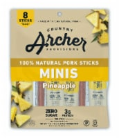Country Archer Minis Pineapple Natural Pork Sticks 8 Count