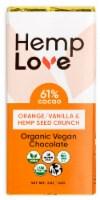 Hemp Love Organic Orange/Vanilla & Hemp Seed Crunch Chocolate Bar