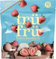 Tru Fru Nature's Strawberries in White & Milk Chocolate - 8 oz