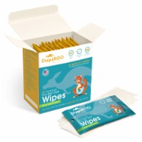 DiapaROO Flushable Wet Wipes for Adults & Kids - 15 Resealable Bags of 3 Wipes - Aloe Vera