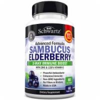 BioSchwartz Sambucus Elderberry with Zinc & Vitamin C Capsules 60 Count