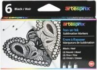 Artesprix Iron-On-Ink Sublimation Markers 6/Pkg-Black - 1