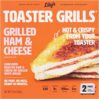 Lily's Toaster Grills Grilled Ham & Cheese Sandwich - 2 ct / 7.4 oz