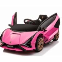 Best Ride on Cars LAMBO SIAN PNK 12V Lamborghini Sian Toy Car, Pink - 1