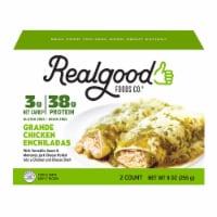 The Real Good Food Company Grande Chicken Enchiladas Frozen Meal - 9 oz