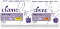 Claene Organic Cotton Cover Pads, Menstrual Large & Overnight Pads for women - 22 Count