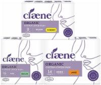 Claene Organic Cotton Cover Pads, Menstrual Regular &Large & Overnight Pads for women
