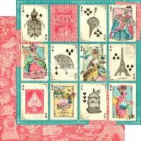 Ephemera Queen Double-Sided Cardstock 12 X12 -A Winning Hand - 1