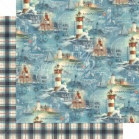 Catch Of The Day Double-Sided Cardstock 12 X12 -Ship Ahoy! - 1