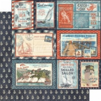 Catch Of The Day Double-Sided Cardstock 12 X12 -Smooth Sailing - 1